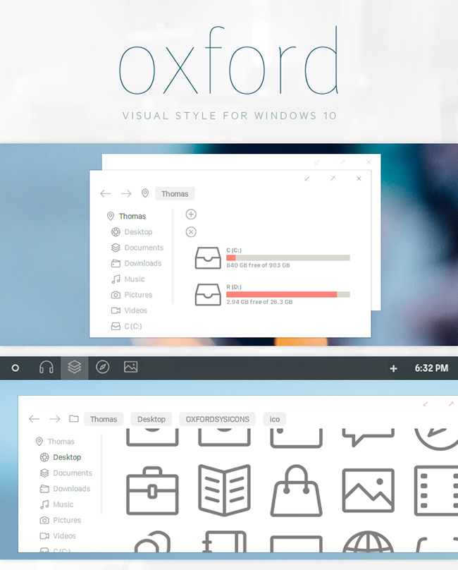Oxford-Windows-10-Theme