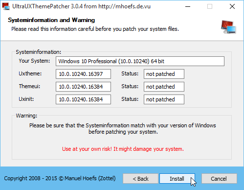 UltraUXThemePatcher 3.0.4 setup