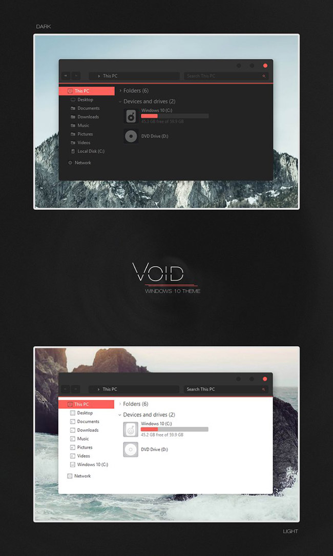 Void-Windows-10-Theme