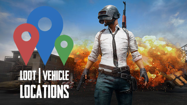 Playerunknown S Battlegrounds Maps Loot Maps Pictures: PUBG: Common Loot, Car/Vehicle, Boat Spawn Locations